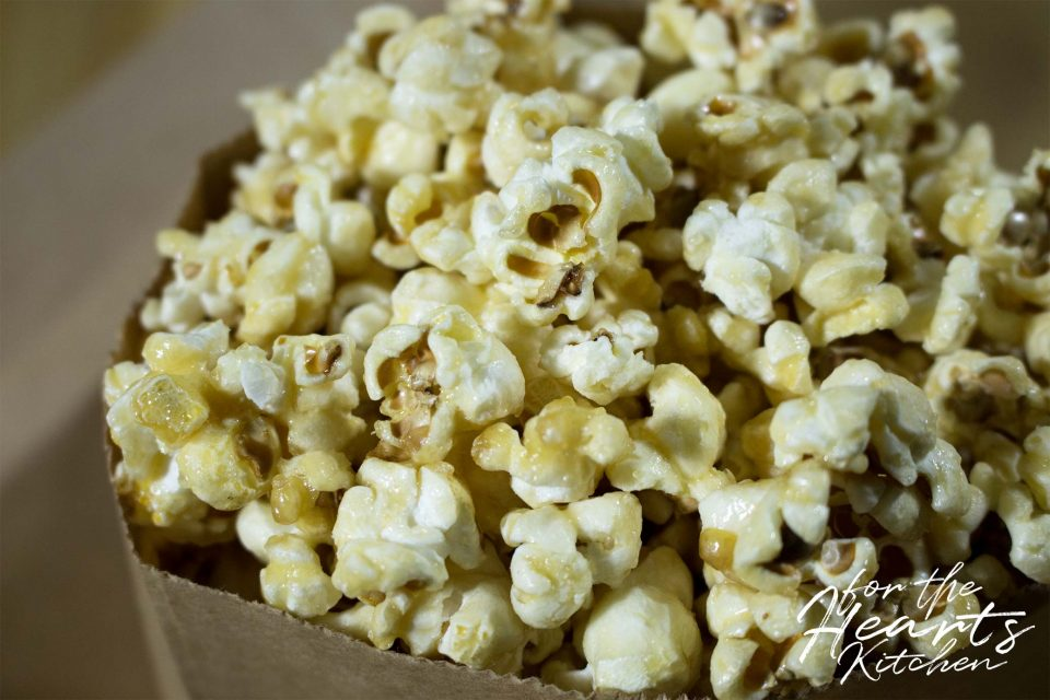 Bestes veganes Salted Caramel Popcorn
