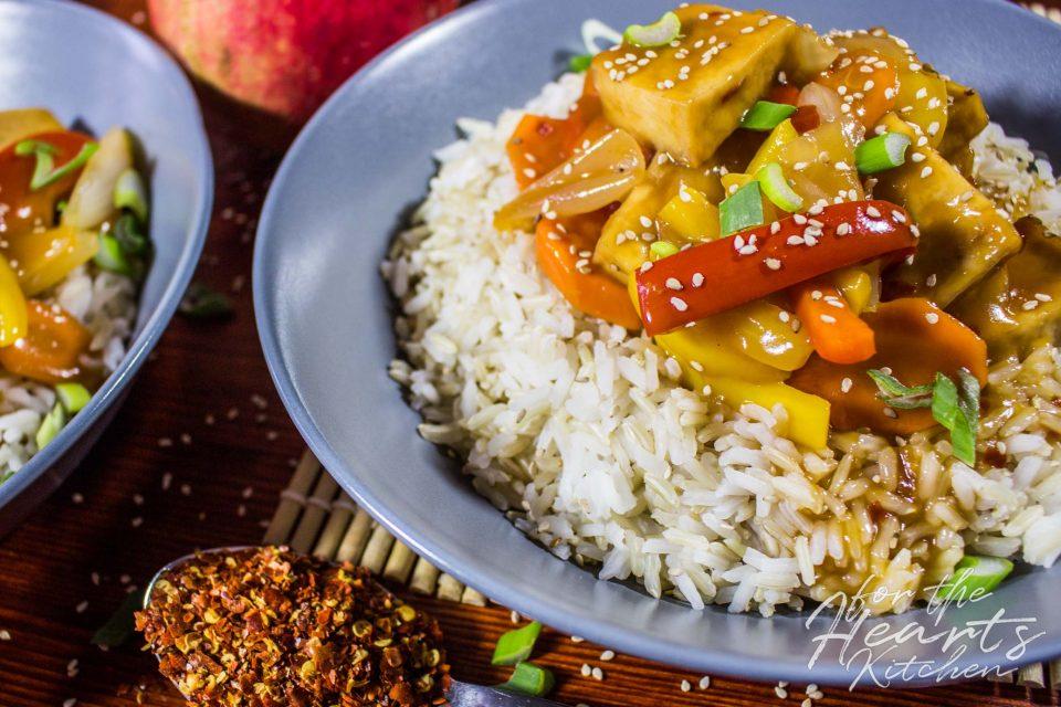 Gebackener Tofu in Süßsauer Sauce