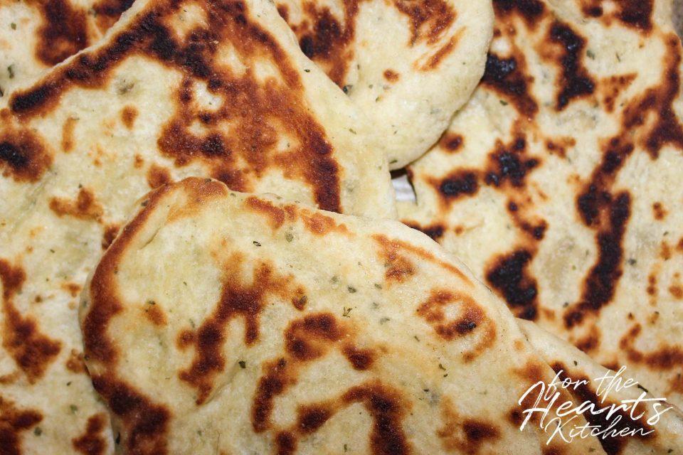 Köstliches veganes Naan Brot