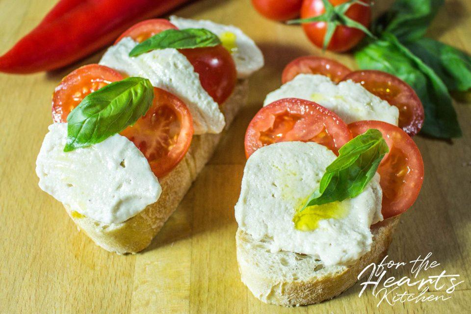 Cremiger veganer Cashew Mozzarella