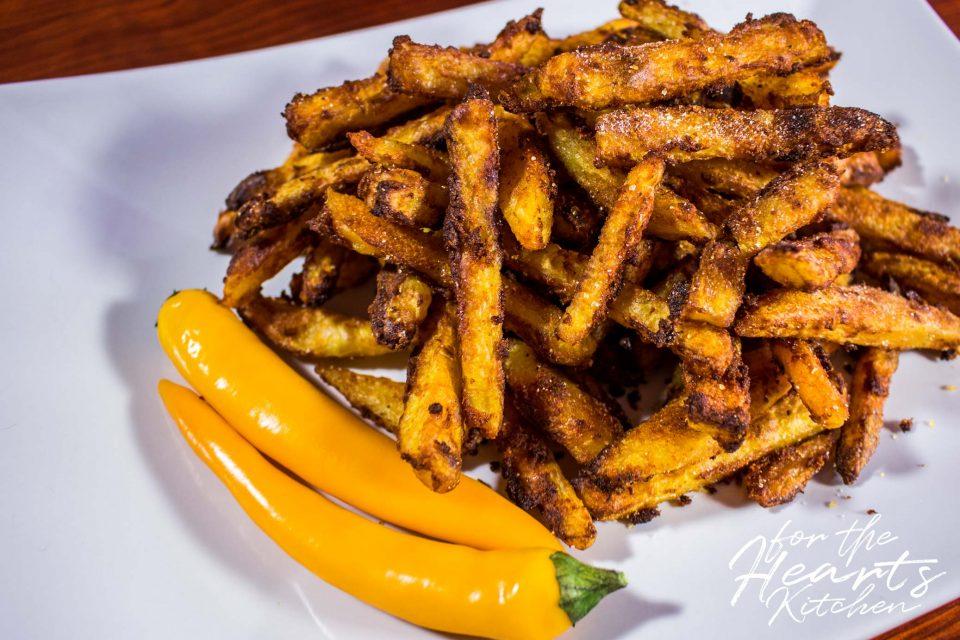 Knusprig scharfe Chili Fries aus dem Ofen