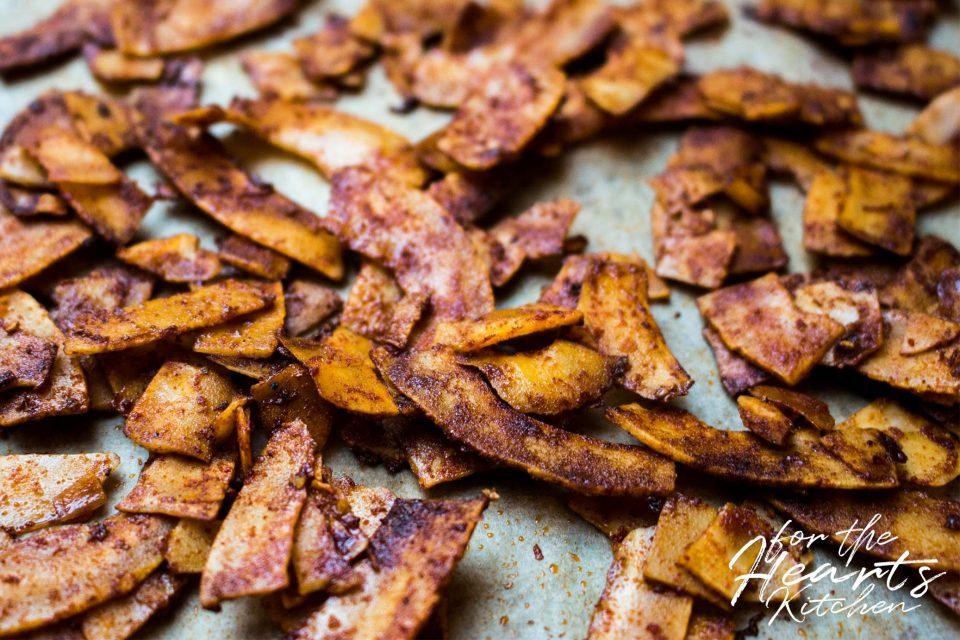 Knusprig veganer Kokosnuss Bacon