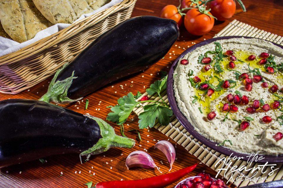 Baba Ganoush – Vegane arabische Auberginen-Sesam-Creme