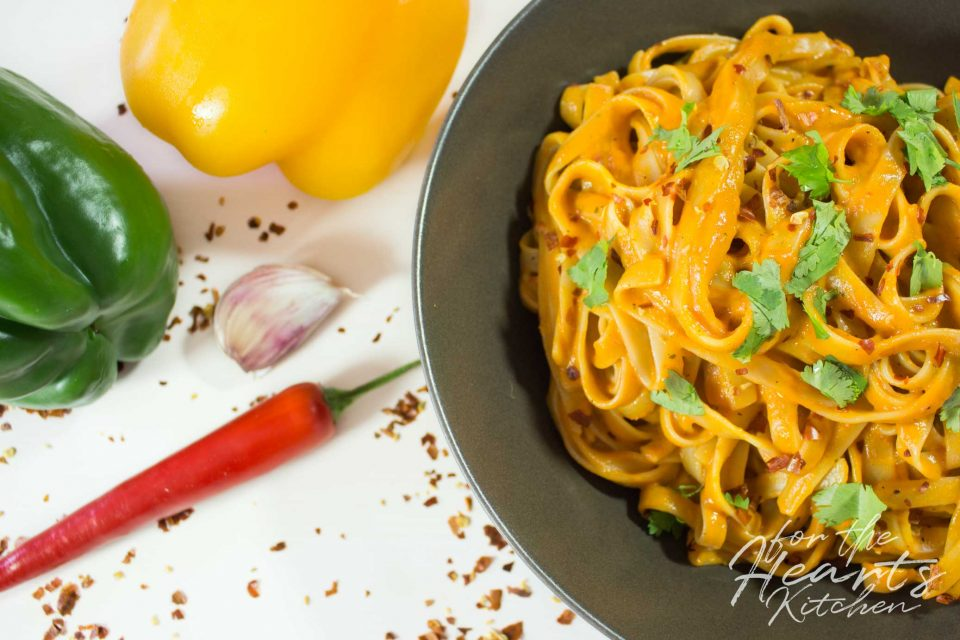 Creamy Roasted Red Pepper Pasta – Cremige geröstete rote Paprika Pasta