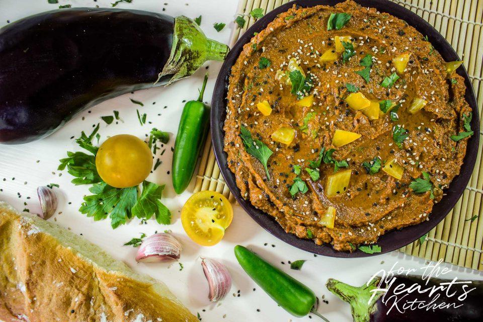 Zaalouk – Vegane marokkanische Auberginen-Tomaten-Creme