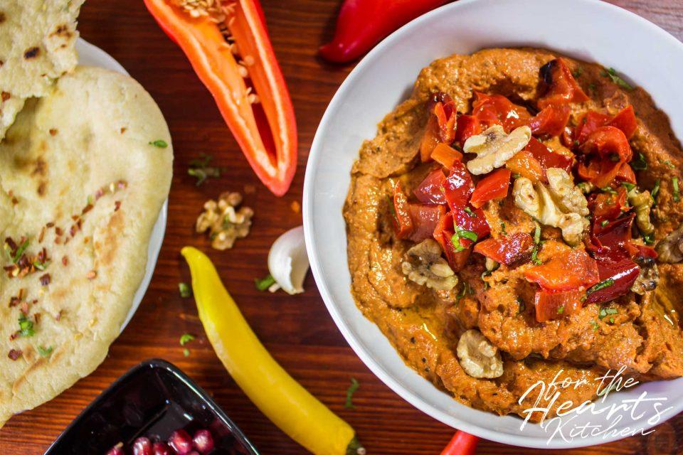 Muhammara – Vegane syrische Paprika-Walnuss-Creme | for the ...