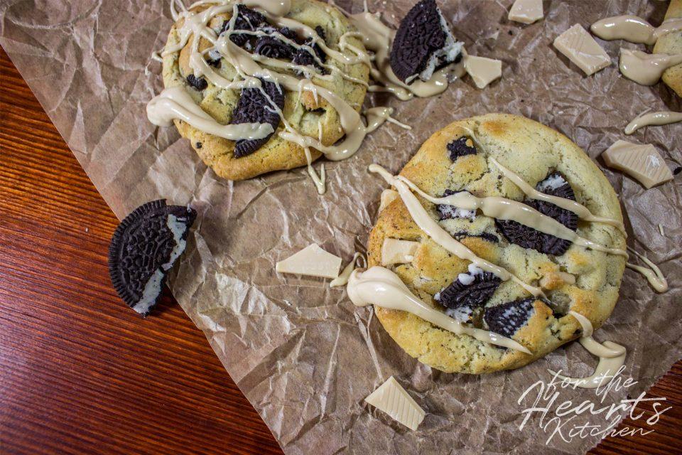 Vegane Oreo Cheesecake White Chocolate Soft Cookies