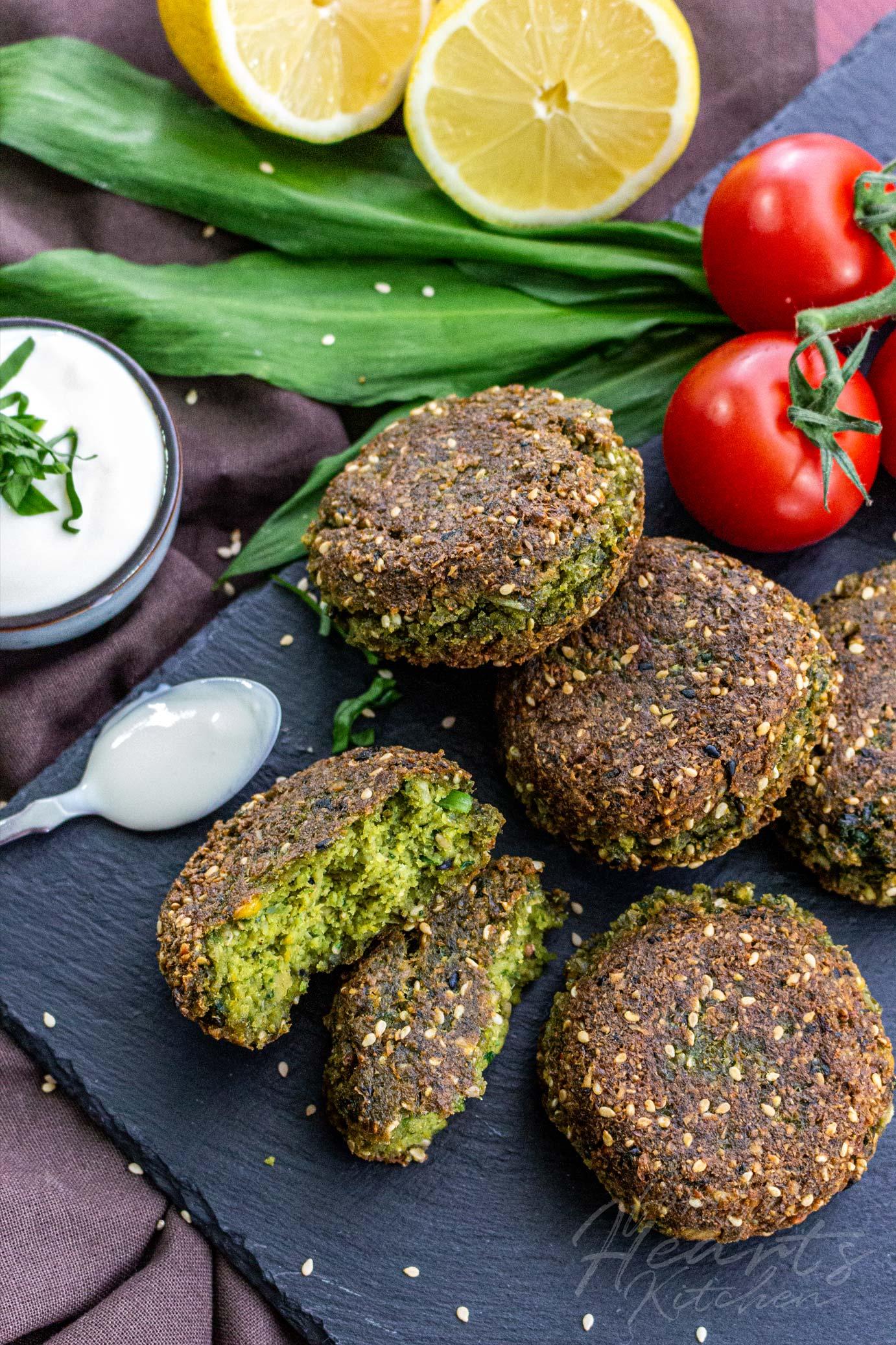 Bärlauch Sesam Falafel