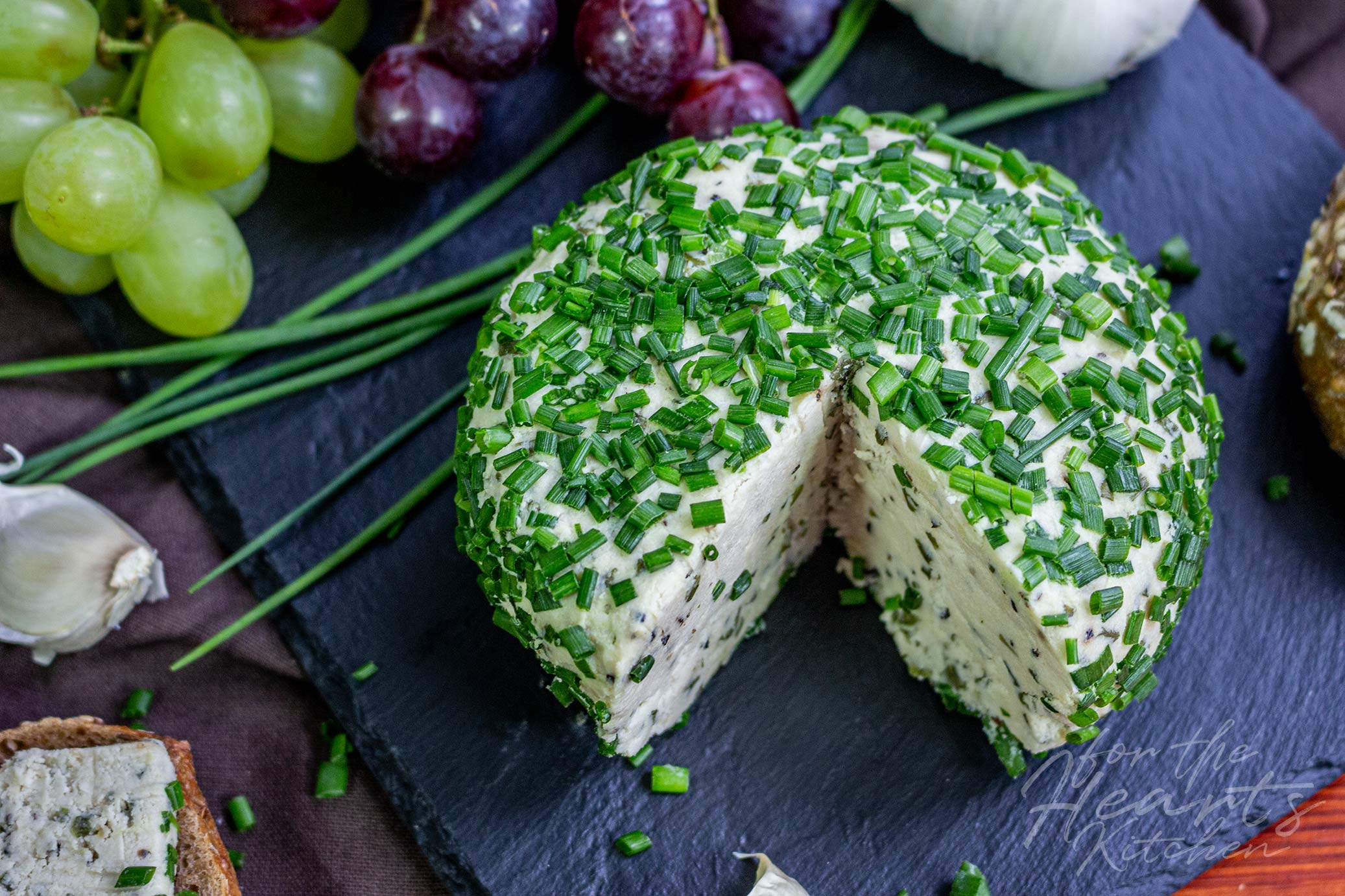 Knoblauch Schnittlauch Cheeseball