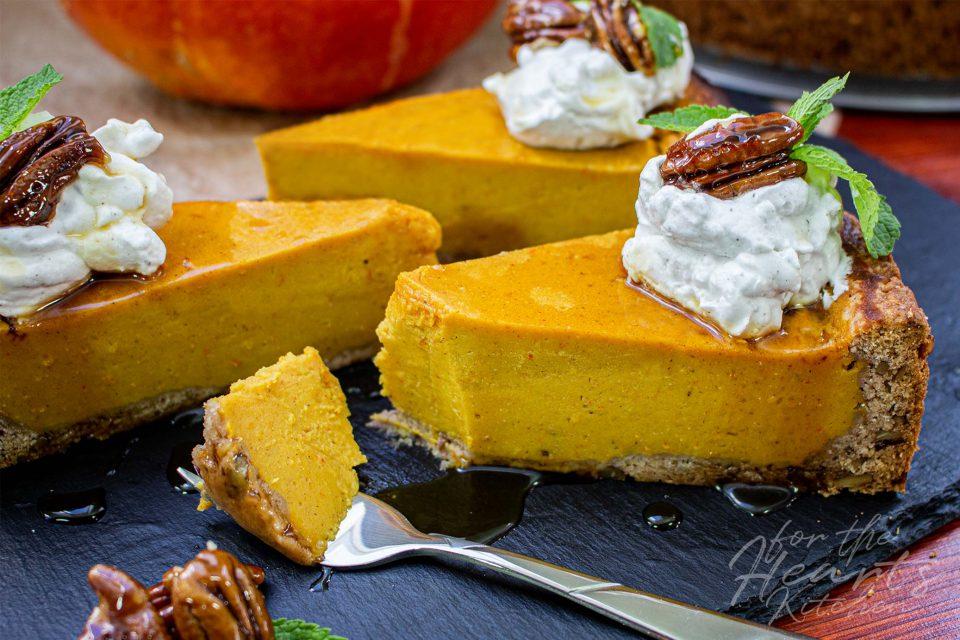 Pumpkin Pie Käsekuchen – Kürbis in seiner wohl leckersten veganen Form
