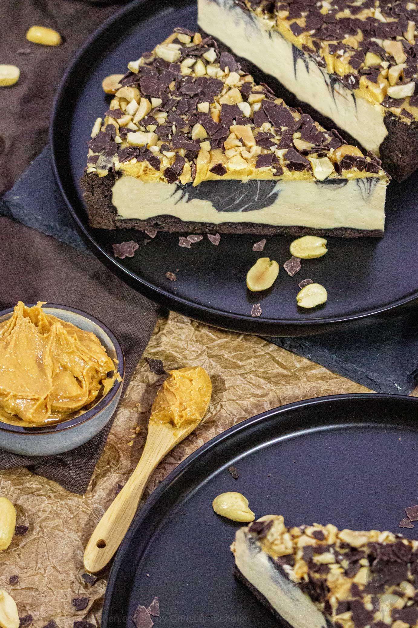 Peanutbutter Chocolate Käsekuchen